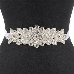 Crystal Pave  Bow Sash Ribbon Bridal Wedding Belt